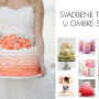 Svadbene torte u ombre stilu