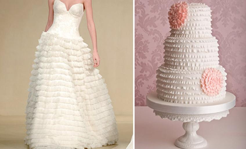 Svadbene torte u stilu mladine venčanice2