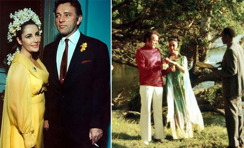 Venčanje sa Barton 1964. godine (leva slika) i 1975. godine (desna slika)